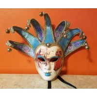 Authentic Venetian Jester Carnival  Face Wall Mask Hand-made in Italy Venezia   132723192394