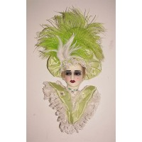 Unique Creations Limited Edition Lady Doll Bust Face Mask Wall Hanging Decor   253764345852