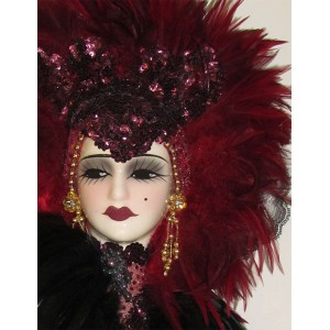Unique Creations Limited Edition Lady Doll Bust Face Mask Wall Hanging Decor   401575422787