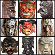 Wooden Mask Hand Carved Vintage Collectible Home Decoration Wood Made Rare Super   323372685109