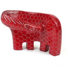 Handcrafted Large Giraffe Soapstone Sculpture in Red - Smolart 640746010897  223023375648