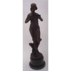 Large Art Deco Bronze Lady - 'Nymph of the Woods' by Pittaluga - 52cm High   351738280997