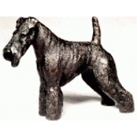 "WELSH TERRIER: COLD-CAST BRONZE FIGURINE  5.25"" LONG #63-149 763684052498  322885483952"