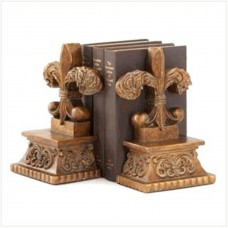 Still a Great Set: Fleur de' Lis Bookends For Home, Office or Study! (Pre-owned)   120938065419