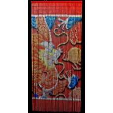 Bamboo Beaded Curtain Lucky Chinese Dragon Door Way Doorway Curtain Room Divider   372386205079