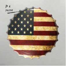 DL-USA Flag Bottle Cap Metal Painting Vintage Souvenir Home Party Wall Decor   232860991693