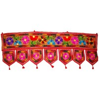 DOOR GATE WINDOW VALANCE HOME DECOR TORAN INDIAN EMBROIDER COTTON WALL HANGING   253796823190