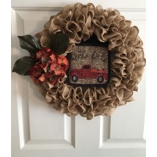Everday Fall Burlap Wreath    142892942923