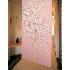 Romantic Blossom Oriental Cherry Sakura Japanese Noren Doorway Curtain E15   252308735254