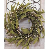 Summer MINI Bay Leaf & Berry Wreath - Farmhouse Decor - Fixer Upper - FREE SHIP   142825391465