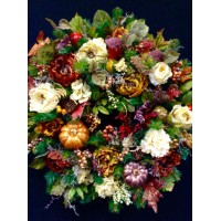 Thanksgiving Wreath, Beautiful Fall Wreath for your door.   152574336224