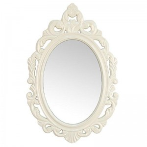 Stratton Home Decor White Baroque Mirror  7477135190266  123240815829