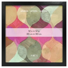 CLOSEOUT PRICE! MCS 12x12 Solid Wood Art Frame In Black (Same Shipping Any Qty) 44021475621  253504302331