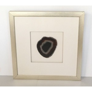 "POTTERY BARN FRAMED AGATE SHADOW BOX BLACK 13.5 X 13.5"" MSRP $179 FREE SHIPPING   153137765765"