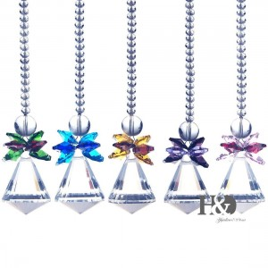 Set 5 Window Hanging Suncatcher Crystal Prism Pendulum Feng Shui Drops Pendants   382541044689