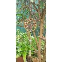Tree Of Life Gemstone Suncatcher with Agate, Citrine and Quartz Point   223022282451