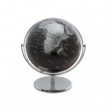 "10"" 2 Tone Revolving World Globe Table Top Black & Silver Modern Style New  704551414605  271845546570"
