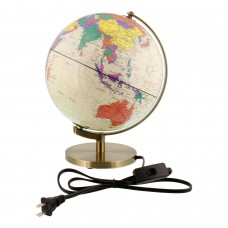 "10"" Inch (25cm) Illuminated Premium Antique Desktop World Earth Globe 848849017236  392077182029"