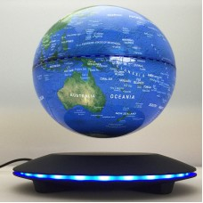 "6"" Electronic Magnetic Levitation Floating Globe World Map with LED Lights Decor   183305736253"