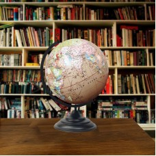"Big Decorative Rotating Globe Pink Ocean World Geography Earth Home Decor 18 ""   162534243513"