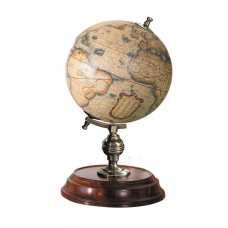 "Desktop Globe Mercator 1541 Old World Terrestrial 7.75"" Brass & Wood Stand New 781934581147  302727627368"