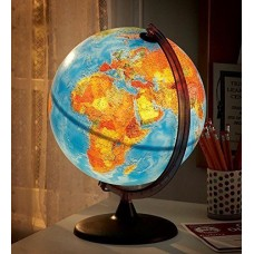 HearthSong Electric Illuminated Orion Relief World Globe Detailed Educational 885101736474  232820092012