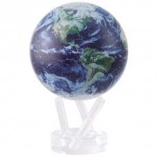 "Mova Globe 6"" STE-C Satellite View Natural Earth self rotating globe Blue 817254020773  183192209856"