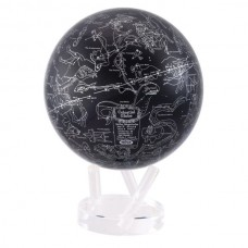 "Mova Globe 8.5"" STA black and silver Metallic CONSTELLATIONS Self rotating globe   183193823053"