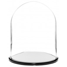 "Plymor Brand 8"" x 10.25"" Glass Display Dome Cloche (Black Acrylic Base) 840003121889  192571299538"
