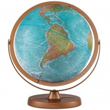 "REPLOGLE Atlantis World Globe 12"" 33801 Blue Ocean Raised Relief   283060922072"