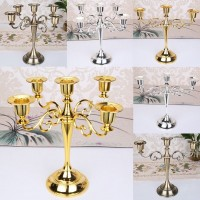 3/5 Arms Metal Crafts Candelabra Alloy Candle Holder Stand Wedding Home Decor   263553804786