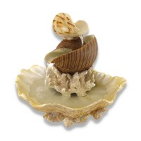 Zeckos Sculpted Seashells and Coral Indoor Table Top Water Fountain 517095170971  362372066187