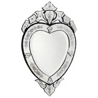 "32"" Paride Mirror Heart Metal Embellished Framing Etched Glass Venetian   263792628873"