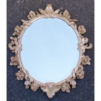 Great Acanthus Carved French Style ROCOCO Silver Gilt BEVELED Floral MIRROR   202396477878