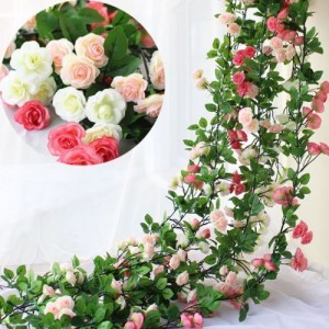 2.2m Long Silk Rose Flower Ivy Vine Leaf Garland Wedding Party Home Decoration A   352431501019
