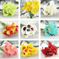 Artificial Decor Flowers False Touch 1/10pcs Lily Bouquet Wedding Home Calla   223102849727