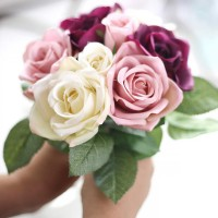 Artificial Rose Peony Silk Flowers Leaf Bouquet Home Floral Wedding Garden Decor   263747593464