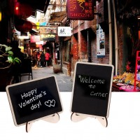 1pc Mini Blackboard Chalkboard With Stand Place Card Wordpad Rectangle Angled FF   152772595027
