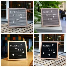 Letter Board Felt Sign Message 10''x10'' &Changeable Letters Numbers and Symbols   142703961832