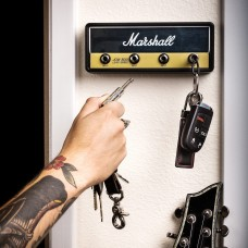 Marshall Amplifier Head Key Rack with 2 Guitar Cable Keychains 857443006119  253784204659