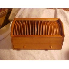 Vintage Wood Personal Secretary Desktop Letter Organizer Mail Bills Caddy Holder   223102681265