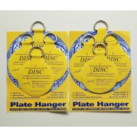 "2 Packs of Invisible Plate Hanger Adhesive Disc Set, 2"" Inch Disc - 8 Hangers   332742458458"