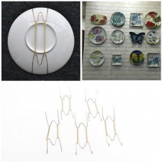 5x Plate Wire Hanging White Hanger Flexible With Spring Wall Display Art Decor.,   162917364160