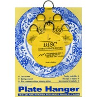 "Disc Adhesive Plate Hangers Small Assorted Set of 2x1,25"", 2x2"", and 2x3"" 609722691789  121235654307"
