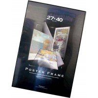 27x40 Movie Poster Frame Black Thin Profile Black Edges Quality Value Assembled   400292908535