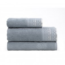2Pce Bianca Victoria 600GSM Turkish Cotton Bath Towel & Mat Soft Blue RRP$74.95   302844310711