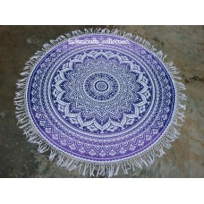 Indian Mandala Round Tapestry Wall Hanging New Ombra Purple Yoga Picnic Decor   263879932500