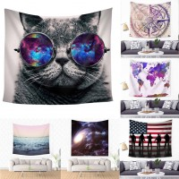 Ombre Tapestry Polyester Spread Wall Hanging Decor Mandala Throw Dorm Bedspread   263879536026