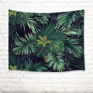 Tropical Plants Green Leaf Tapestry Wall Hanging Living Room Bedroom Dorm Decor   132744873447