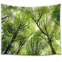 Wall26 - Tree Tops in the Forest - Fabric Tapestry, Home Decor - 68x80 inches   123310039556